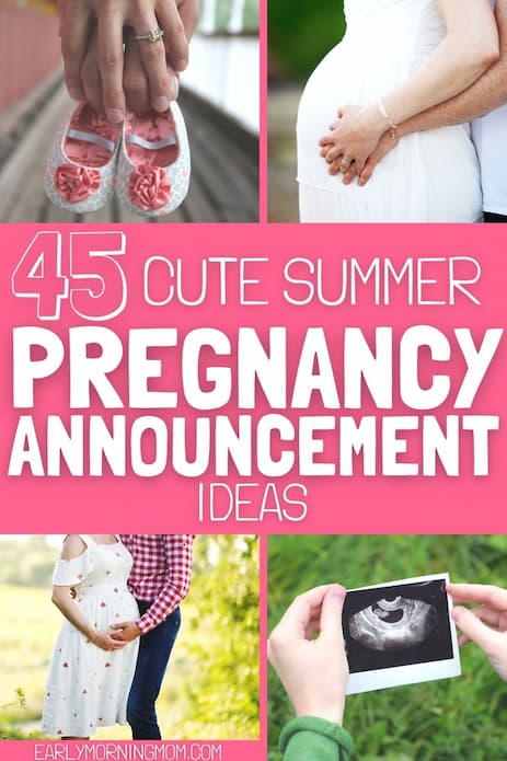 summer pregnancy announcement ideas
